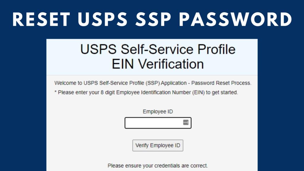 reset usps ssp password