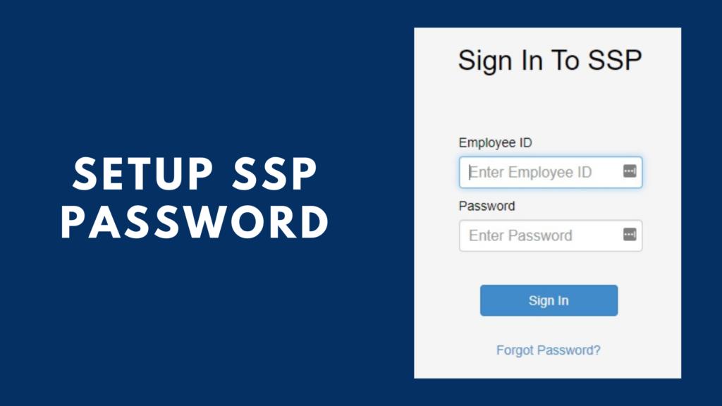 setup ssp password