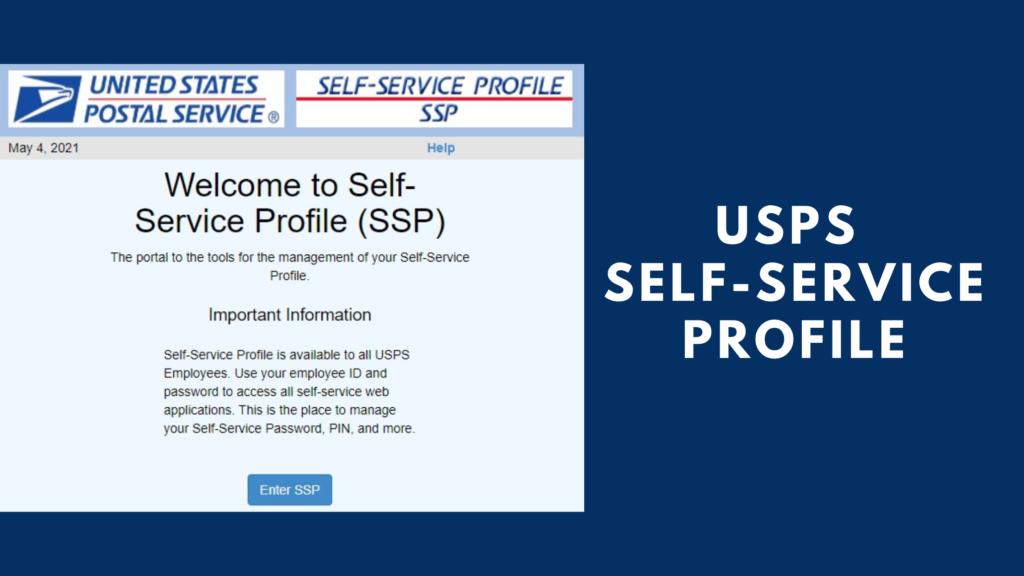 usps self service profile