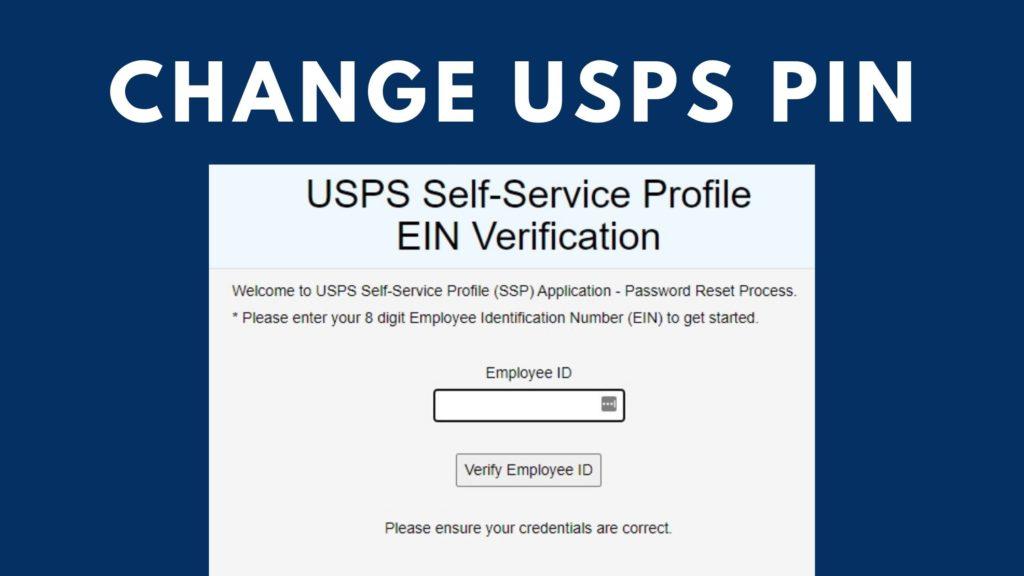 change usps ssp pin